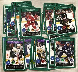 (37) 1995-96 Playoff One on One CCG NHL cards Fedorov Forsberg Jagr Modano Neely