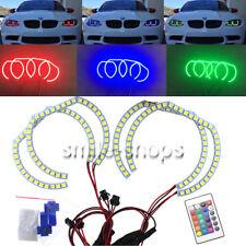 RGB Multi-Color LED Angel Eye Halo Rings DTM SMD Kit For BMW 07-10 E92 Coupe 2DR