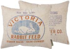 """Primitives by Kathy """" VICTORIA RABBIT FEED """" Pillow Farmhouse Style Throw Pillow"""