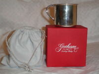 NEW GORHAM Sterling Silver Beautiful Baby Cup Childs .925 with BOX BAG 51 g !!!!