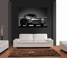CLASSIC SILVER MERCEDES SL Giant WALL ART PRINT PICTURE POSTER