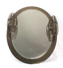 beleuchteter Spiegel Rauchglas Chrom 60er 70er Design