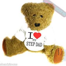 I Love My Step Dad Novelty Gift Teddy Bear