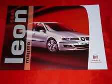 """SEAT Leon """"Magma"""" Sondermodell Prospekt von 2003"""