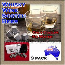 Reusable Whiskey Wine Scotch Ice Cube Stones Rocks Set Stone Cooler Cubes Chill