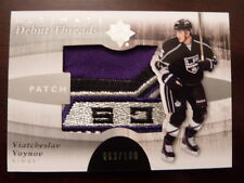 2011-12 Ultimate VIATCHESLAV VOYNOV Debut Threads Logo Patch RC #d 63/100