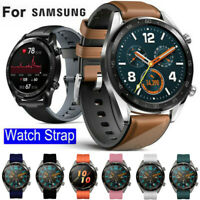 22mm Leather Silicone Watch Band Strap For Samsung Gear S3 Classic Frontier 46mm