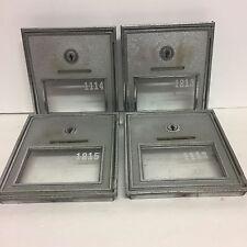 CORBIN Post Office Mail Box Door Heavy Nickel Plated Bronze #2 No Keys Lot Of 4