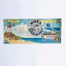 Vintage 1940s Mike's Ship-A-Hoy acht Bar Restaurant Menu Postcard New York Paper
