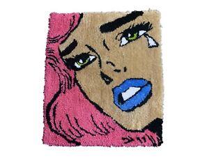 Crying Girl Pop Art Rug