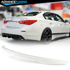 Fits 14-20 Infiniti Q50 Factory Painted #QAB White Pearl Trunk Spoiler