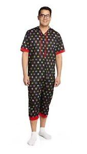 Official Nintendo Men's Super Mario Power Ups One Piece Onesie0 Pajamas!