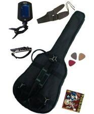 PACK 6 Accessoires Guitare Folk 4/4 (Housse, accordeur..)
