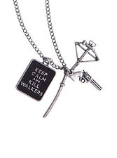"""NEW AMC LICENSED The Walking Dead """"Keep Calm And Kill Walkers"""" Pendant Necklace"""