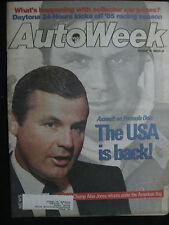 AUTOWEEK Magazine  February 18, 1985  World Champ Alan Jones Formula One Racing
