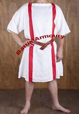 Roman Tunic Short Sleeveles With Red Strip Medieval renaissance Surcoat Sca Larp