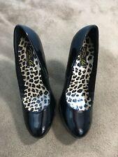 PINUP HARL01/BPT Sexy Black Classic Retro Stiletto High Heel Platform Pumps 9 Y6