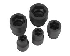 """WILMAR 5 PC BOLT EXTRACTOR  5/16 (8mm) 3/8 (10mm) 1/2 (13mm) 11/16 3/4""""  W38918"""