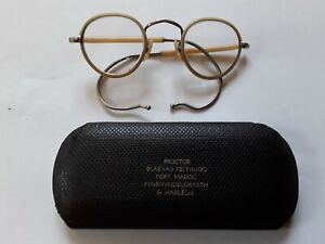 Vintage NHS glasses - round wire frames - Harry Potter style with original case.