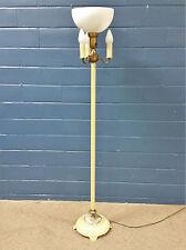 VINTAGE ANTIQUE TORCHIERE FLOOR LAMP DIFUSER METAL ART DECO