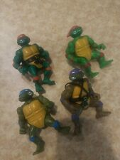Set Of 4 Teenage Mutant Ninja Turtles Action Figures 1988 Vintage