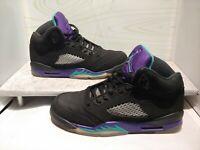 Nike Air Jordan 5 V Retro Black Grape Size 6Y purple 440888 007 emerald ice