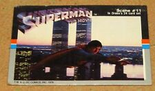 Superman the Movie 1978 World Trade Towers Trading Card Drake's Cakes DC Comics