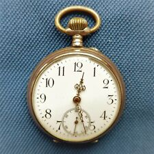 Men's Pocket Watch, Silver - 0,800, Zylindergang, Good Function, Approx. 1915