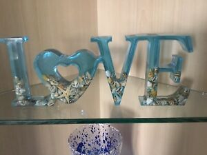 Handmade Resin Freestanding LOVE sign- Made To Order