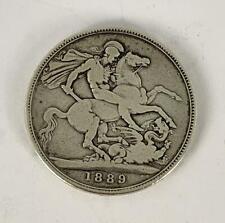 QUEEN VICTORIA SILVER CROWN COIN 1889