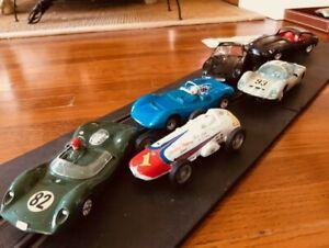 60's SIX (6) 1/32 Scale Strombecker Model Slot Cars Ferrari Porsche Jaguar Lotus