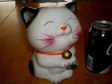 MANEKI NEKO - GOOD LUCK KITTY CAT, 3-D Ceramic Piggy Bank, ASIAN MADE BANK