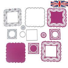 6 piece lace square circle background die set metal cutting die cutter UK