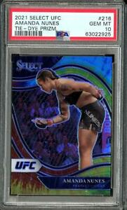 2021 Panini Select UFC Amanda Nunes Tie Dye Prizm /25 PSA 10 Gem Mint #216 POP 2