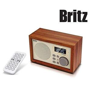 Britz BA-C1 SoundRoom Portable Bluetooth Speaker Audio Radio Clock Dual Alarm
