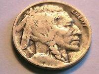 1917-D Buffalo Nickel Ch Fine (F) Grey Toned Original Indian Head 5 Cent US Coin