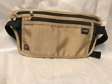 New Lewis N. Clark RFID-Blocking Hidden Luxe Waist Stash Money Belt Tan SRP $18