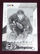 10-11 The Cup TAYLOR HALL 1/1 Rookie Masterpiece Black Printing Plate RC