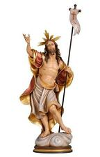 The Resurrection of Jesus Christ, Hand Carved & Painted Figurine, Wood Carving