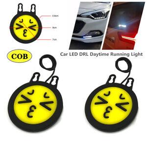 "2PCS 5"" Car LED DRL Daytime Running Light COB Driving Fog Lamp Universal Part"