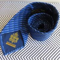 Italy Made EQUESTRIAN FIRENZE Navy / Light Blue Stripes Neck Tie 100% Silk