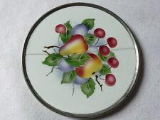 DESSOUS DE PLAT ANCIEN CERAMIQUE décor de fruits