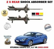 FOR HYUNDAI COUPE 2.0 2.7 2002-2009 NEW 2 X REAR LEFT + RIGHT SHOCK ABSORBER SET