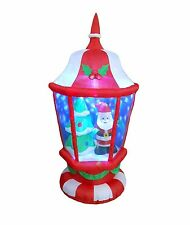 Christmas Air Blown Inflatable Yard Decoration Santa Claus X'mas Tree in Lantern