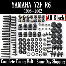 NT Complete Black Fairing Bolt Kit Body Screws for Yamaha 1998-2002 YZF R6 Ua08
