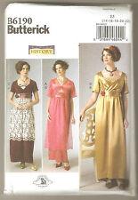 Butterick Pattern B6190 Edwardian Downton Abbey Titanic Dress Costume Sz 14-22