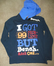 Boy Bench hooded t-shirt top size 7-8 y 100% cotton NEW
