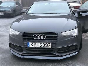 For Audi A5 B8 8T FACELIFT Front Chin Lip BLACK GLOSS ABS