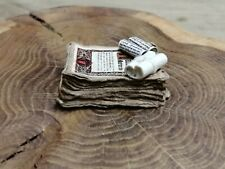 More details for 1:12 scale stack of aged papers & scroll spell to call the halliwell matriarch