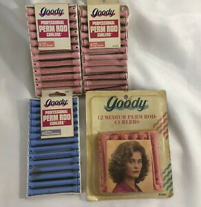 Vintage Hair Curlers Goody Perm  Rod Curlers 50 Medium SEALED